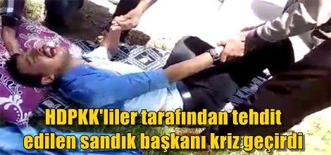 HDPKK'liler tarafından tehdit  edilen sandık başkanı kriz geçirdi