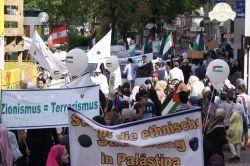 Avusturya'nın başkenti Viyana'da Kudüs Günü yürüyüşü