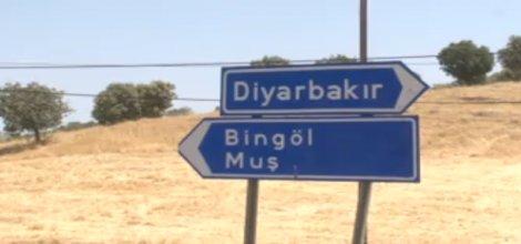 Diyarbakır-Bingöl karayolu trafiğe kapatıldı