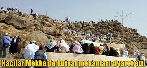 Hacılar Mekke'de kutsal mekânları ziyaret etti