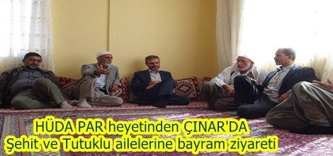 HÜDA PAR heyetinden  Şehit ve Tutuklu ailelerine bayram ziyareti video foto