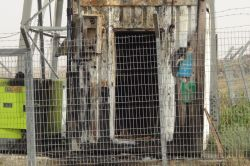PKK Çınarda baz istasyonunu yaktı