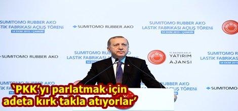 'PKK'yı parlatmak için adeta kırk takla atıyorlar'