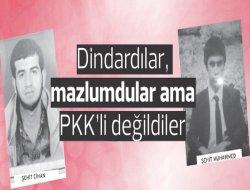 Dindardılar, mazlumdular ama PKK'li değildiler
