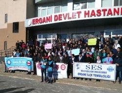 Ergani'de Taşeron işçilerin işten çıkarılmasına tepki