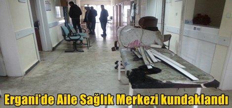 Ergani'de Aile Sağlık Merkezi kundaklandı