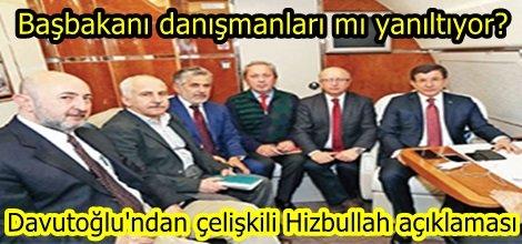 Davutoğlu'ndan çelişkili Hizbullah açıklaması