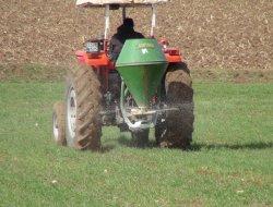 Çınarlı çiftçiler tarlaya gübre atmaya başladı video-foto