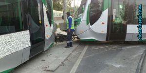 Konya'da Aleaddin-Kampüs seferini yapan tramvay raydan çıktı