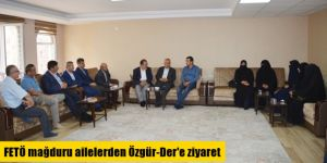 FETÖ mağduru ailelerden Özgür-Der'e ziyaret