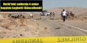 Derik'teki saldırıda 4 asker hayatını kaybetti