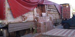 Ağrı Doğubayazıt'ta 500 bin paket kaçak sigara ele geçirildi