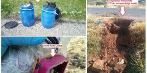 Kocaköy Kokulupınar civarında el yapımı patlayıcı ve mayın tespit edildi