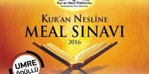 Umre ödüllü Kur'an nesline meal sınavı yapılacak