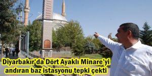Diyarbakır'da Dört Ayaklı Minare'yi andıran baz istasyonu tepki çekti