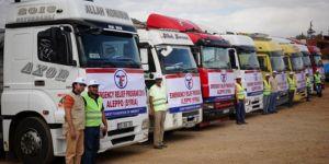 Halep'e 6 TIR insani yardım gönderildi