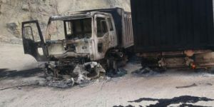 PKK, Amanos'ta iş makinelerini yaktı
