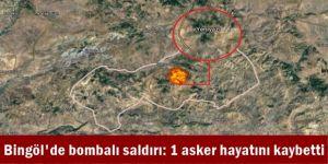 Bingöl'de bombalı saldırı: 1 asker hayatını kaybetti