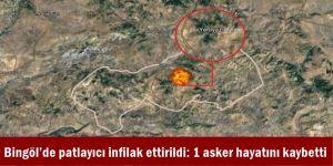 Bingöl Kiğı'de patlayıcı infilak ettirildi: 1 asker hayatını kaybetti