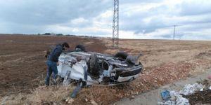 Çınar'da kontrolden çıkan otomobil takla attı: 1 yaralı