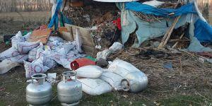 Van Erciş'te sığınakta patlayıcı madde ele geçirildi