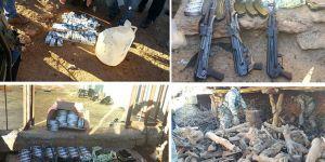 Dicle'nin Kaygısız köyünde çok sayıda silah ele geçirildi
