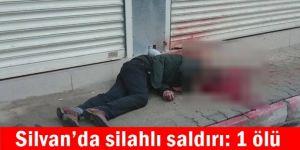 Silvan'da silahlı saldırı: 1 ölü