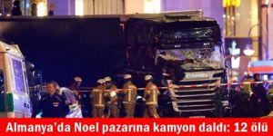 Almanya'da Noel pazarına kamyon daldı: 12 ölü