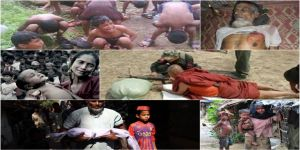 Rohingya kudurmuş bir ordu ile karşı karşıya