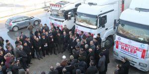 Edremit'ten Halep halkına 3 yardım TIR'ı