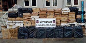 Silvan'da 350 bin TL'lik kaçak sigara ele geçirildi