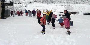25 il ve bazı ilçelerde eğitime kar tatili