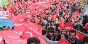 Kulp'ta PKK protesto edildi