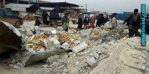 Suriye'nin İdlib kentinde pazar yerine saldırı: 10 ölü