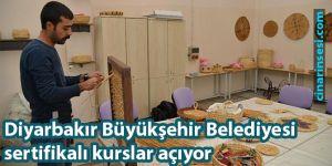 Diyarbakır Büyükşehir Belediyesi sertifikalı kurslar açıyor