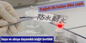 Suya ve ateşe dayanıklı kâğıt üretildi