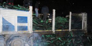 Mardin Nusaybin'de kömür torbalarında kaçak sigara bulundu