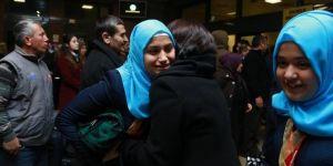 Gaziantep'te umreye giden öğrenciler döndü