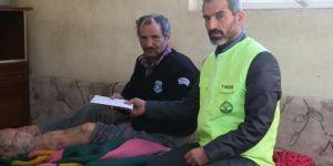 Mağdur aileye yapılan yardımlar teslim edildi