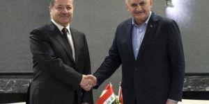 Başbakan Yıldırım ile Barzani bir araya geldi