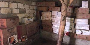 Evde 72 bin paket kaçak sigara bulundu