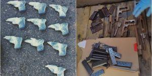 Şırnak Cizre'de 11 ruhsatsız tabanca ele geçirildi