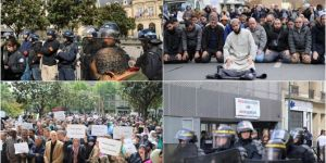 French Police raid on mosque with combat boots