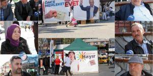 Bursalılar referanduma bir gün kala duygu ve düşüncelerini anlattılar