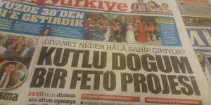 """Türkiye Gazetesi'nden """"Kutlu Doğum"""" hazımsızlığı"""