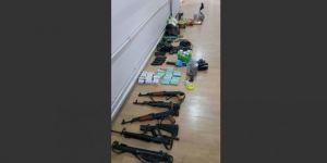 Mardin Kızıltepe'de silah ve mühimmat ele geçirildi
