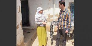 Bismil'de evi yıkılan aileye yardım eli uzatıldı