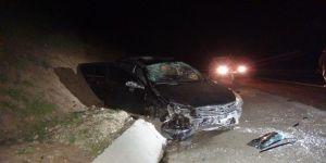 Çınar Göksu barajı yakınlarında otomobil takla attı; 1 ölü, 3 yaralı