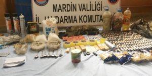 Mardin Savur'da patlayıcı yapımında kullanılan malzemeler bulundu