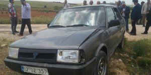 Bozova'da hayvan hırsızları kaza yaptıkları araçta yakalandı